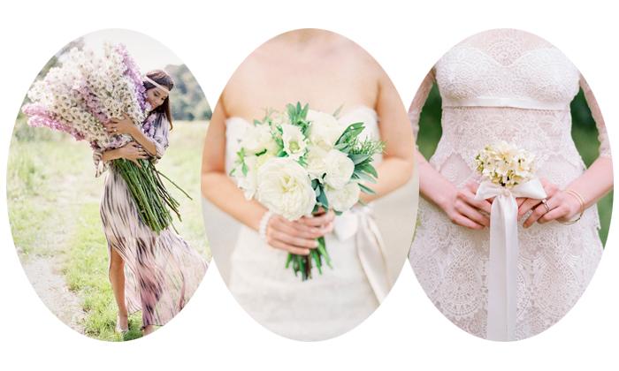 le bouquet des fleurs de mariage